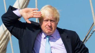 Boris saluting