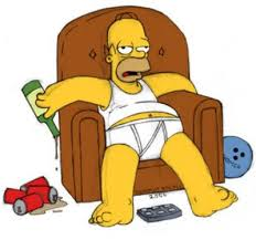 Homer Simpson on couch