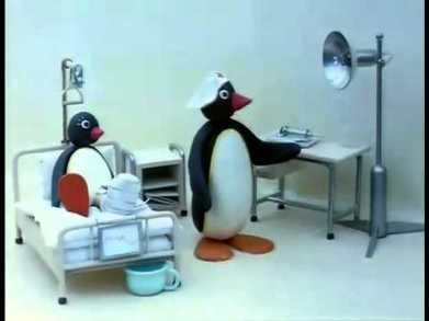 Pingu in hospital
