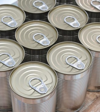 Tins of food