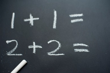 Basic sums on a blackboard