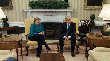 Trump Merkel W House