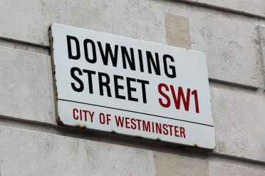 Downing St sign
