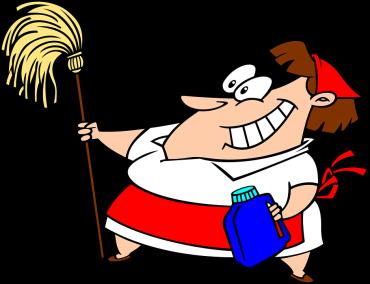 Cleaner cartoon