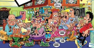 Pub comic cartoon